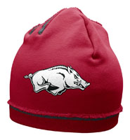 Cardinal White Hog Off Center Jersey Knit Beanie