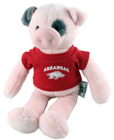 Wild Bunch Plush Pig Red Tee Arkansas Over Hog