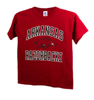 Youth Cardinal T-Shirt Arkansas Over Hog Razorbacks