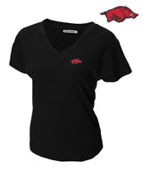 RED ZONE BLACK V-NECK WITH RUN HOG ON LC