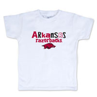 INFANT WHITE WITH ARKANSAS RAZORBACKS OVER HOG