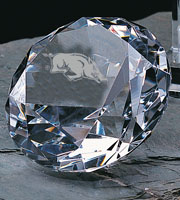 "FACETED OPTIC CRYSTAL DIAMOND 5""D"