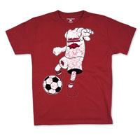 YOUTH CARDINAL SOCCER PLAYER TEE
