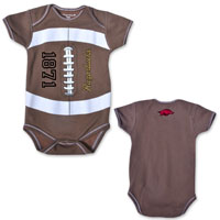 MVP INFANT BODYSUIT BROWN FOOTBALL
