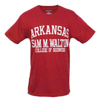 ARKANSAS SAM M WALTON COLLEGE OF BUSINESS CARD TEE