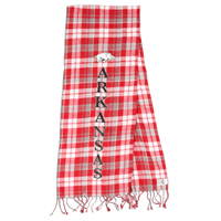 REIGN ARKANSAS PLAID CARD AND GRAY SCARF