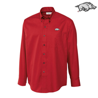 CARD RED EASY CARE FINE TWILL LS DRESS SHIRT