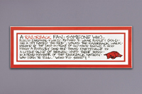 A RAZORBACK FAN PLAQUE