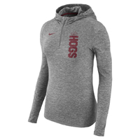WOMENS HOGS DRY ELEMENT GREY HEATHER HOOD