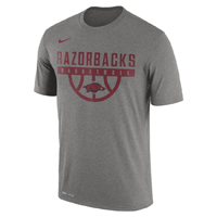 RAZORBACKS BASKETBALL GREY HEATHER SS T-SHIRT