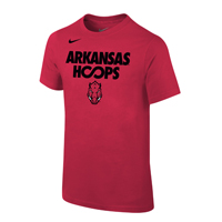 YOUTH ARKANSAS HOOPS HOG CARD SS T-SHIRT