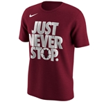 JUST NEVER STOP CARD SS T-SHIRT