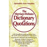 MERRIAM WEBSTER DICTIONARY OF QUOTATIONS