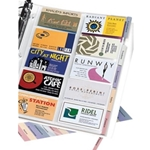 5PK TABBED BUSINESS CARD PAGES