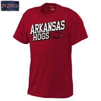 ARKANSAS HOGS CARD HOG CARD TEE