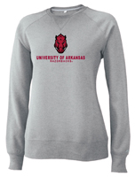 WOMENS FORWARD FACING HOG UNIVERSITY OF ARKANSAS RAZORBACKS OXFORD CREW