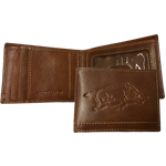 Brown Mens Aviator Wallet Bifold