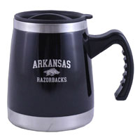 16OZ SQUAT MUG WITH HANDLE WITH RAZORBACK