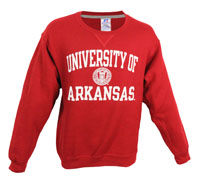 UNIVERSITY OF ARKANSAS WITH SEAL CARD FLEECE CREW