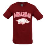 ARKANSAS OVER HOG HAZE PRINT CARD TEE