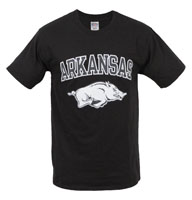 ARKANSAS OVER HOG HAZE PRINT BLACK TEE