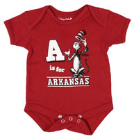 INFANT DR SEUSS A IS FOR ARKANSAS CARD BODY SUIT ONESIE