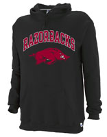 RAZORBACKS RUN HOG BLACK HOOD