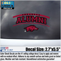 ARKANSAS ALUMNI RUN HOG DECAL