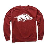 CARDINAL CREW WITH WHITE HOG COMFORT COLORS