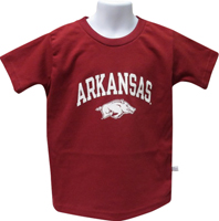 TODDLER MASCOT TEE CARDINAL ARK OVER WHITE HOG