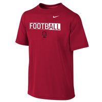 FOOTBALL OVER FRONT FACING HOG LEGEND CARD SS TEE