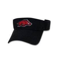 CARD RUN HOG BLACK VISOR RAZORBACKS ON BACK