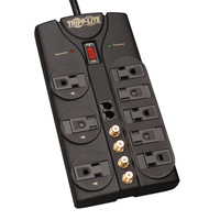 Tripplite 8 Outlight Surge Protector with Network and Coaxial Protection