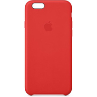 Apple iPhone 6 Plus Leather Case Red