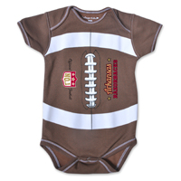INFANT NO 1 FOOTBALL ARKANSAS RAZORBACKS ONESIE BODYSUIT
