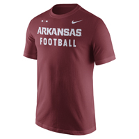 ARKANSAS FOOTBALL FACILITY CARD SS T-SHIRT