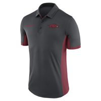 RUN HOG LC EVERGREEN ANTHRACITE POLO CARD DOWN SIDE