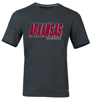 ARKANSAS RAZORBACKS BLACK HEATHER SS T-SHIRT