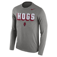 HOGS FRANCHISE GREY HEATHER LS T-SHIRT