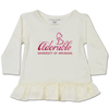 INFANT ADORABLE UNIVERSITY OF ARKANSAS VANILLA LOVE PEPLUM