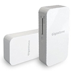 GIGASTONE UNIVERSAL MOBILE CHARGER WHITE