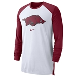 RUN HOG CARD AND WHITE BREATHE ELITE LS T-SHIRT