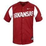 ARKANSAS BASEBALL CARD JERSEY FULL BUTTON