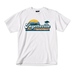 FAYETTEVILLE SUN UNIVERSITY OF ARKANSAS WHITE SS T-SHIRT