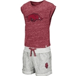 TODDLER ARKANSAS T-SHIRT AND SHORT CARD SET