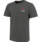 OMAHOGS HOG BASEBALL CHARCOAL SS T-SHIRT