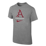 YOUTH A NIKE SWOOSH BASEBALL DARK HEATHER SS T-SHIRT