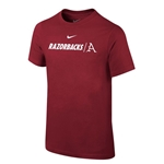 YOUTH RAZORBACKS LETTER A CARD SS T-SHIRT