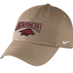 YOUTH ARKANSAS OVER HOG CAMPUS KHAKI CAP