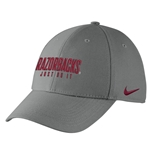 YOUTH RAZORBACKS JUST DO IT PEWTER SWOOSH FLEX CAP
